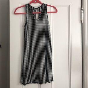 Dresses & Skirts - Black and white stripe cotton dress